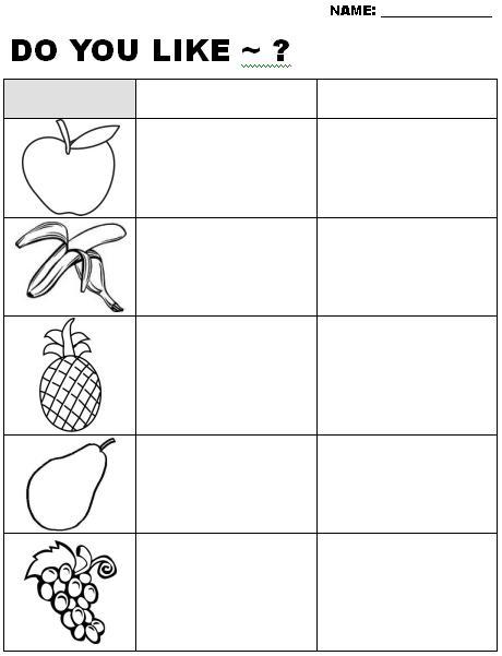 """Do You Like?"""" Fruit ESL Worksheet (Beginner / Elementary level) EFL"""