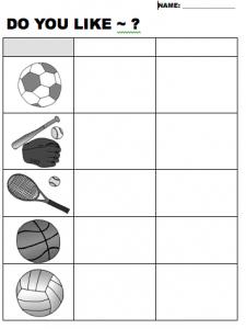 do you like sports worksheet beginner elementary level efl. Black Bedroom Furniture Sets. Home Design Ideas