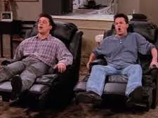 Joey and Chandler watch TV