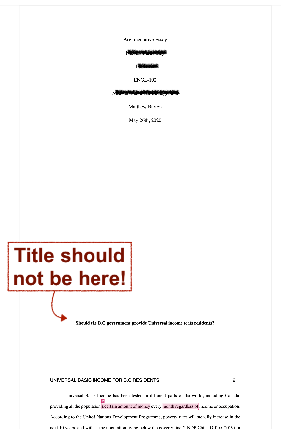 Document is missing a page break